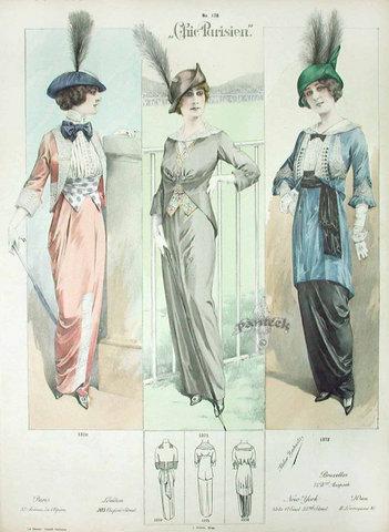 Фотографии, эскизы моделей платьев 30 х годов.